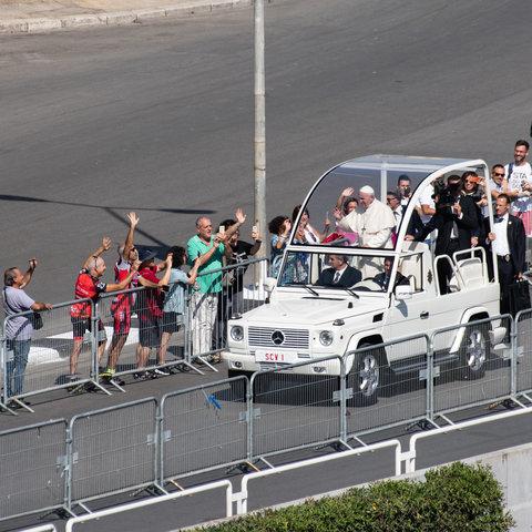 Papa Bergoglio a Palermo il 15 09 2018
