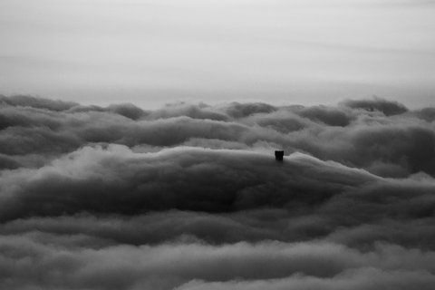 Castello nella nebbia....Radicofani