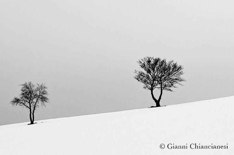 Monte Labbro con la neve....