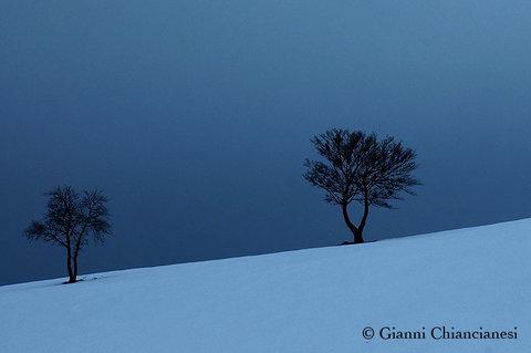 Monte Labbro con la neve...