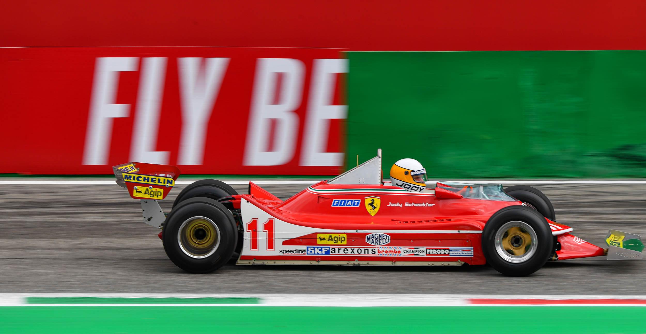 Jody Scheckter sulla Ferrari 312T4 del 1979