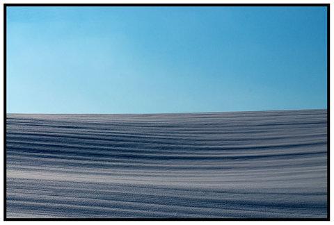 Linee...Val d'Orcia con la neve