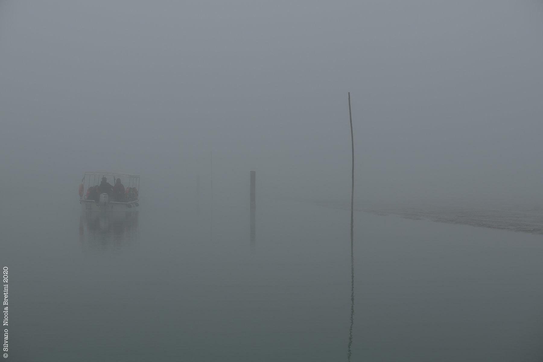 Il Delta del Po con la nebbia
